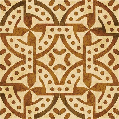 Retro brown watercolor texture grunge seamless background round dot spiral circle