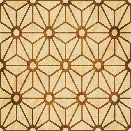 Retro brown watercolor texture grunge seamless background star cross flower frame