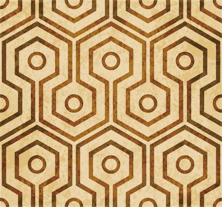 Retro brown watercolor texture grunge seamless background cross hexagon round frame