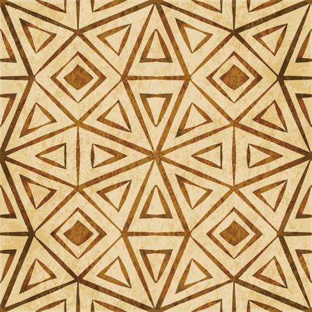 Retro bruin van de de achtergrondtextuurcontrole van de waterverftextuur grunge naadloos kader van de de achthoekgeometrie geometrisch kader