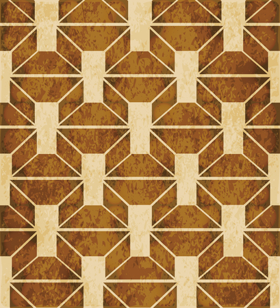Retro brown watercolor texture grunge seamless background polygon cross square kaleidoscope