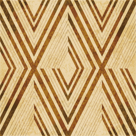 worn out: Retro brown watercolor texture grunge seamless background diamond check geometry cross frame