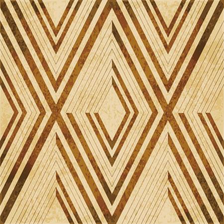 grime: Retro brown watercolor texture grunge seamless background diamond check geometry cross frame