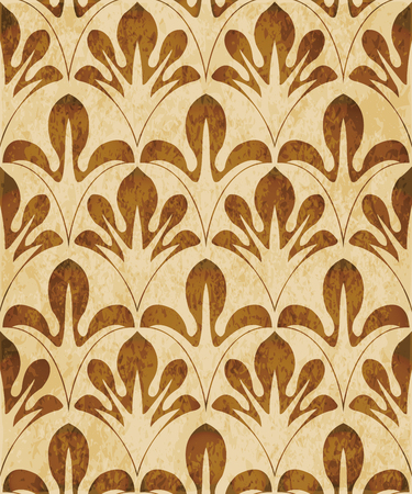 Retro brown watercolor texture grunge seamless background curve nature leaf cross