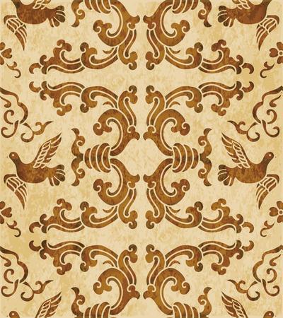 Rétro brun texture aquarelle grunge Sans soudure fond spirale vague pigeon Banque d'images - 88751334