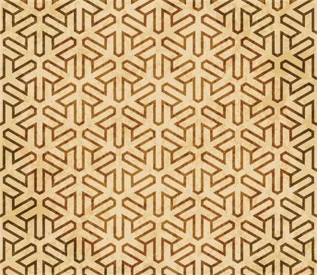 Retro brown Islam seamless geometry pattern background eastern style ornament Stock Illustratie