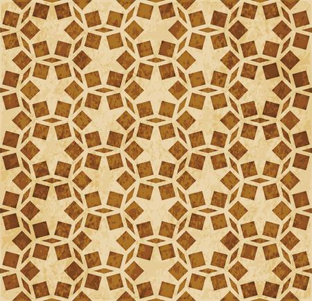 Retro brown Islam seamless geometry pattern background eastern style ornament Illustration