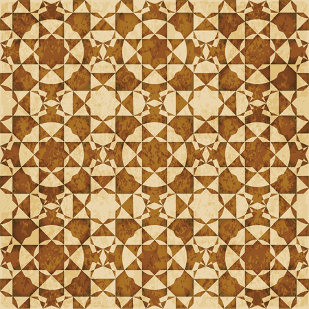 Retro brown Islam seamless geometry pattern background eastern style ornament Stock Vector - 92434880