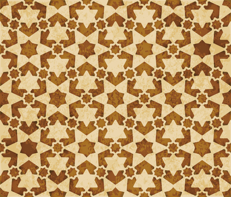 Retro brown Islam seamless geometry pattern background eastern style ornament Stock Illustratie