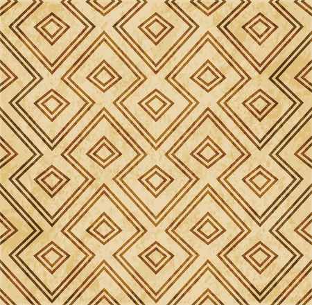 Retro brown Islam seamless geometry pattern background eastern style ornament Illustration
