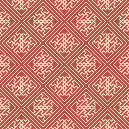 Seamless background southeast Asian retro aboriginal traditional art textile pattern spiral check cross tracery frame line
