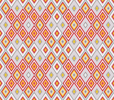 Seamless background southeast Asian retro aboriginal traditional art textile pattern diamond check cross rhomb geometry
