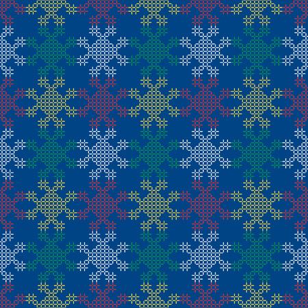 Seamless background southeast Asian retro aboriginal traditional art textile pattern colorful stitch cross geometry line 向量圖像