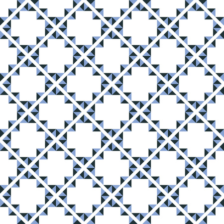 Seamless background southeast Asian retro aboriginal traditional art textile pattern triangle check cross geometry frame  イラスト・ベクター素材