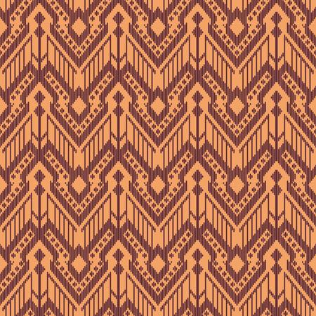 Seamless background southeast Asian retro aboriginal traditional art textile pattern stitch cross frame line