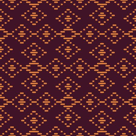 Seamless background southeast Asian retro aboriginal traditional art textile pattern check cross straight line frame