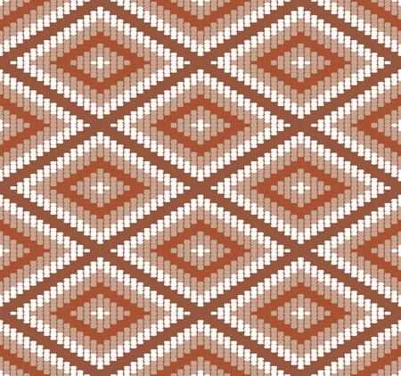 Seamless background southeast Asian retro aboriginal traditional art textile pattern stitch woven cross square check diamond frame line