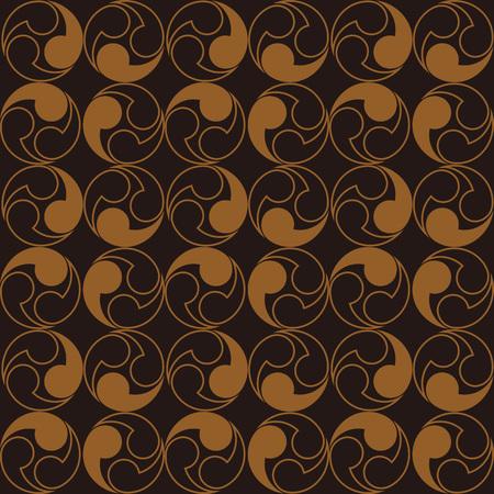 Japanese traditional retro wagara seamless pattern background spiral round vortex geometry.