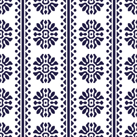Vector damask seamless pattern background spiral curve round cross flower tirangle dot line