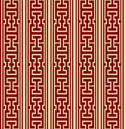 Vector damask seamless pattern background geometry polygon square cross tracery frame line