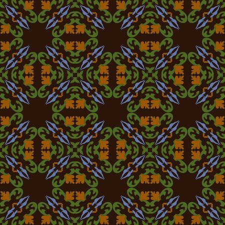Damask vector pattern backdrop spiral curve cross leaf plant