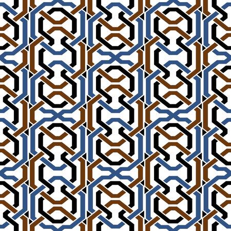 Colorful polygon geometry cross frame chain line