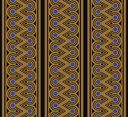 Aboriginal zigzag round cross frame line Illusztráció