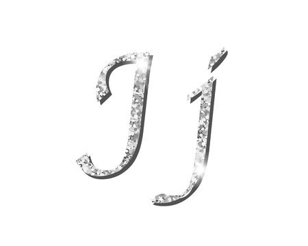 Shinning silver luxury typographic alphabet fonts Illustration