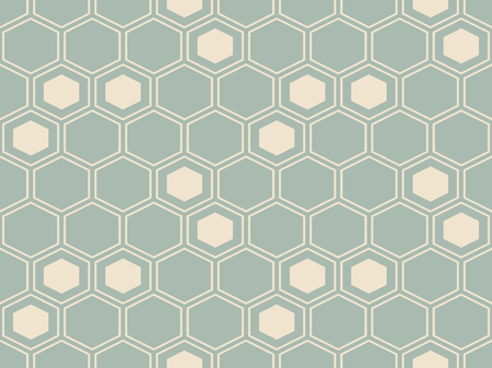 Antique seamless background Hexagon Cross Polygon Frame, Ideal for wallpaper decoration or greeting card design template.