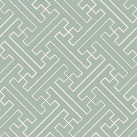 Antique seamless background Polygon Spiral Cross Tracery Line, Ideal for wallpaper decoration or greeting card design template.