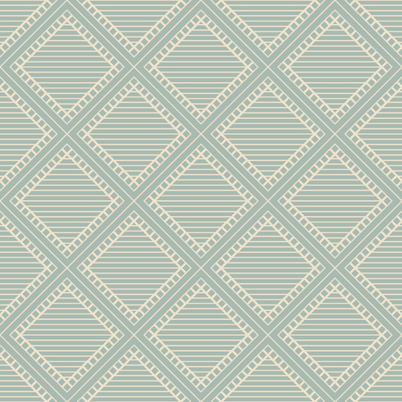 Antique seamless background Square Check Cross Frame Line, Ideal for wallpaper decoration or greeting card design template. 矢量图像