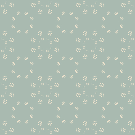 Antique seamless background Round Cross Dot Flower, Ideal for wallpaper decoration or greeting card design template.