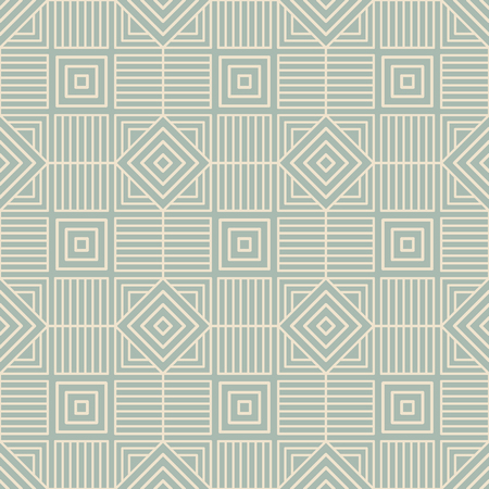 Antique seamless background Square Check Spiral Cross Frame Line, Ideal for wallpaper decoration or greeting card design template.