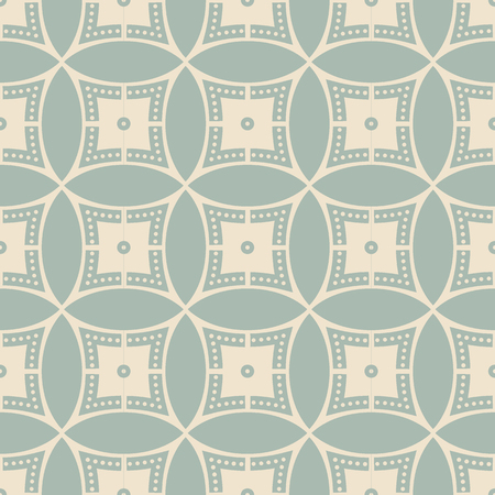 Antique seamless background Round Circle Cross Frame Dot Line, Ideal for wallpaper decoration or greeting card design template.