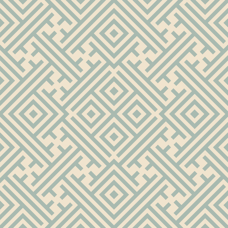 Antique seamless background Square Check Cross Tracery Spiral Frame, Ideal for wallpaper decoration or greeting card design template.