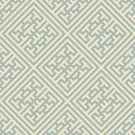 Antique seamless background Check Square Cross Tracery Frame, Ideal for wallpaper decoration or greeting card design template. Illustration