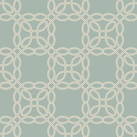 Antique seamless background Curve Round Corner Square Cross Frame Line, Ideal for wallpaper decoration or greeting card design template.