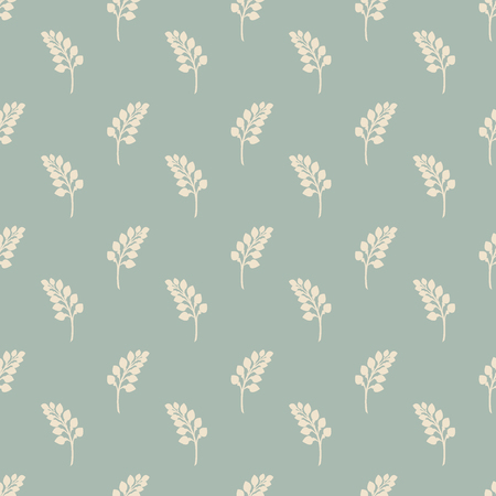 Antique seamless background Nature Garden Plant Leaf, Ideal for wallpaper decoration or greeting card design template.