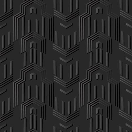 3D dark paper art Polygon Geometry Arrow Cross Frame, Vector stylish decoration pattern background for web banner greeting card design
