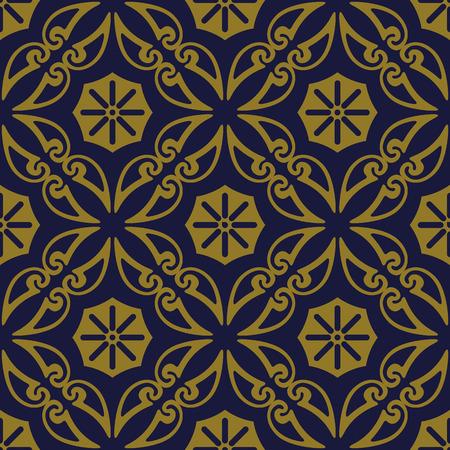 Antique seamless background Curve Spiral Cross Frame Vine flower, Ideal for wallpaper decoration or greeting card design template. 向量圖像