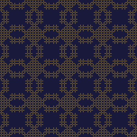 Antique seamless background Stitch Cross Geometry Mosaic Check Line, Ideal for wallpaper decoration or greeting card design template.