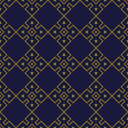 Antique seamless background Square Check Cross Frame Geometry, Ideal for wallpaper decoration or greeting card design template. Ilustração