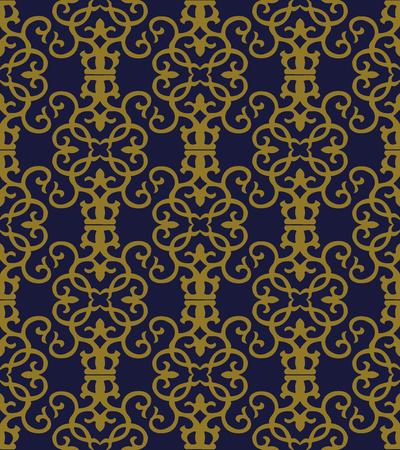 Antique seamless background Spiral Vortex Curve Cross Frame Vine, Ideal for wallpaper decoration or greeting card design template. 向量圖像