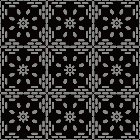 Antique seamless background Round Cross Frame Line Flower, Ideal for wallpaper decoration or greeting card design template.