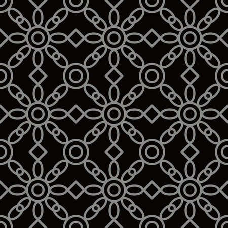 Antique seamless background Round Cross Frame Check Flower, Ideal for wallpaper decoration or greeting card design template.