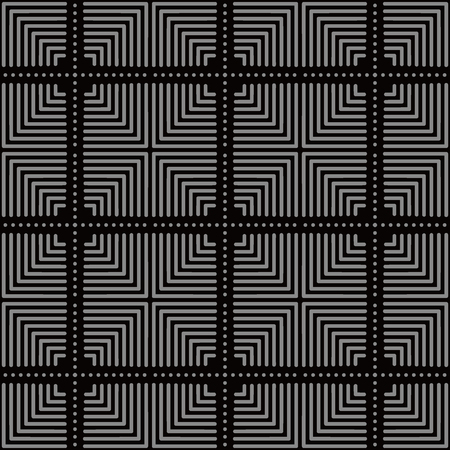 Antique seamless background Square Check Cross Round Dot Line, Ideal for wallpaper decoration or greeting card design template.