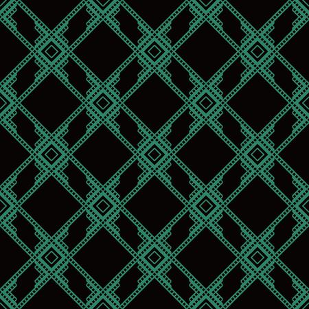 Antique seamless background Square Check Cross Frame Geometry Line. Ideal for wallpaper decoration or greeting card design template. Ilustração