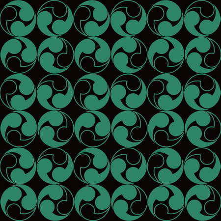 Antique seamless background Spiral Round Vortex Geometry, Ideal for wallpaper decoration or greeting card design template.