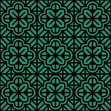Antique seamless background Curve Cross Geometry Frame Line Flower. Ideal for wallpaper decoration or greeting card design template. 矢量图像