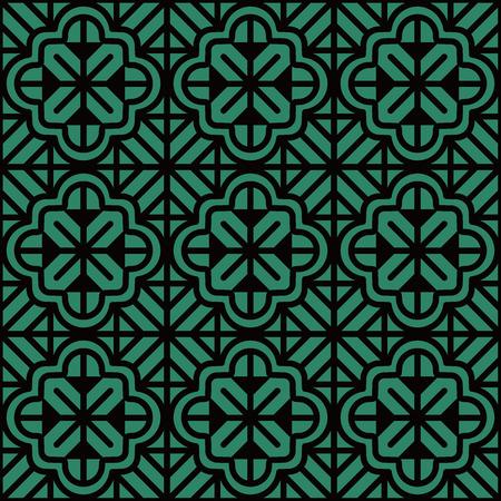 Antique seamless background Curve Cross Geometry Frame Line Flower. Ideal for wallpaper decoration or greeting card design template. Ilustração